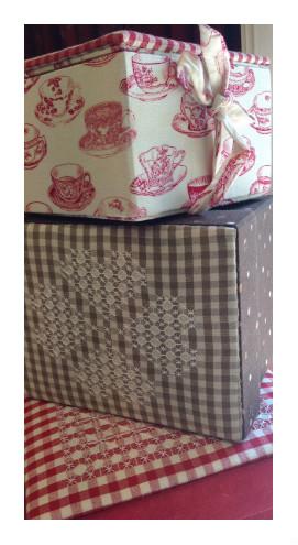 Corso Scatole in tessuto cucite